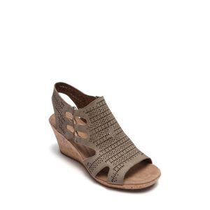 Rockport Cobb Hill Women's Rockport Cobb Hill Janna Perforated Wedge Sandal, Size 8.5 W - Beige