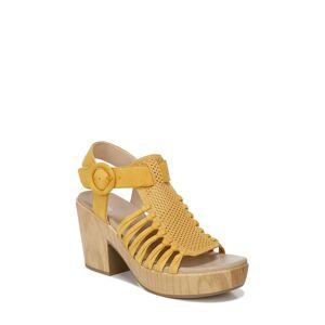 Dr. Scholl's Women's Dr. Scholl's Beach Front Block Heel Sandal, Size 11 M - Yellow
