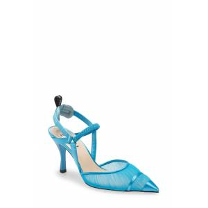 Fendi Women's Fendi Colibri Tulle Pointed Toe Slingback Pump, Size 8US - Blue