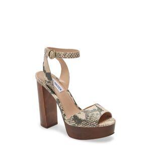 Steve Madden Women's Steve Madden Mckinley Platform Block Heel Sandal, Size 8.5 M - Beige