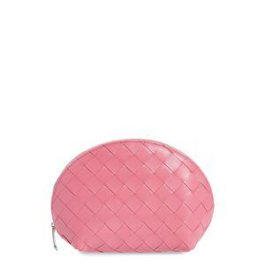 Bottega Veneta Medium Intrecciato Leather Cosmetics Case, Size One Size - Pink