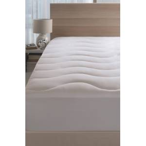CLIMAKNIT Coolmax Cooling Mattress Pad, Size Twin - White