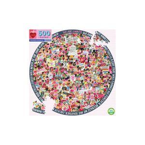 eeBoo Infant Eeboo Women's March 500-Piece Round Puzzle