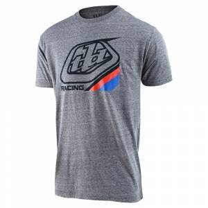 Lee Troy Lee Designs Precision 2.0 Youth Tee Size Small in Vintage Gray Snow