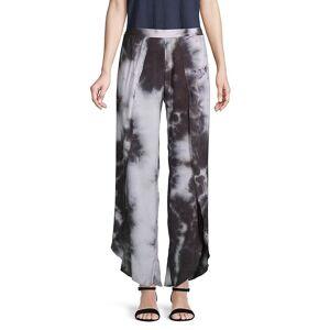 SUPPLY & DEMAND Women's Printed Wide-Leg Pants - Black - Size M  Black  female  size:M