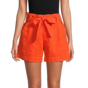 Joie Women's Daynaa Paper Bag Shorts - Papaya - Size 6  Papaya  female  size:6