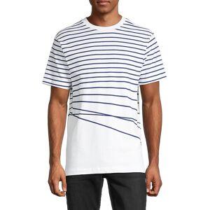 French Connection Men's Striped Breton T-Shirt - Blue Ribbon - Size XXL  Blue Ribbon  male  size:XXL