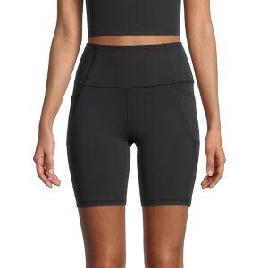 X by Gottex Women's High-Waist Bike Shorts - Midnight - Size L  Midnight  female  size:L