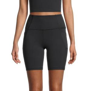 X by Gottex Women's High-Waist Bike Shorts - Black - Size S  Black  female  size:S