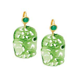 Kenneth Jay Lane Women's Goldplated Drop Earrings  neutral  female  size:one-size