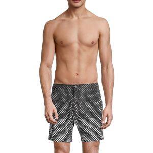 Onia Men's Calder Geometric Swim Shorts - Black - Size M  Black  male  size:M