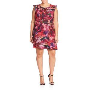 ABS Plus Floral Printed Dress