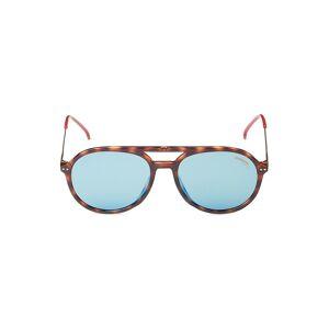 Carrera Women's 53MM Faux Tortoiseshell Round Sunglasses - Tortoise Blue  Tortoise Blue  female  size:one-size