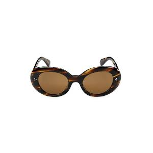 Oliver Peoples Women's Errissa 52MM Oval Sunglasses - Brown  Brown  female  size:one-size