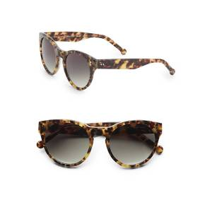 Colors in Optics Women's 52MM Cat's-Eye Sunglasses - Tan Fade  Tan Fade  female  size:one-size