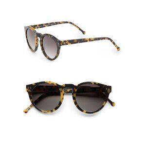 Colors in Optics Women's 49MM Round Sunglasses - Black  Black  female  size:one-size