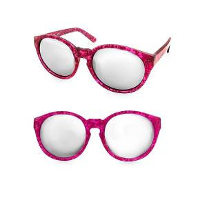 AQS Women's 53MM Printed Daisy Round Sunglasses - Pink  Pink  female  size:one-size