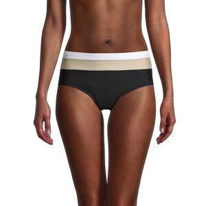 DKNY Women's High-Rise Colorblock Bikini Panty - Black - Size XXL  Black  female  size:XXL