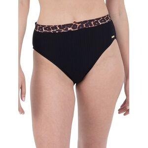 Nine West Women's Leopard Band Bikini Bottom - Black Tan - Size XXL  Black Tan  female  size:XXL