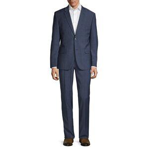 Ben Sherman Men's Slim-Fit Textured Wool Blend Suit - Navy - Size 38 L  Navy  male  size:38 L