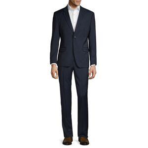 Ben Sherman Men's Slim-Fit Textured Wool Blend Suit - Navy - Size 42 R  Navy  male  size:42 R