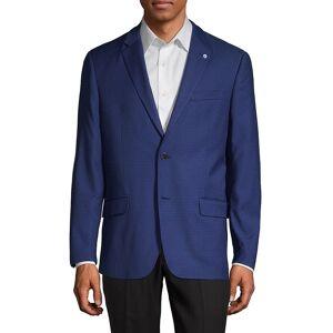 Ben Sherman Men's Checkered Sportcoat - Bright Blue - Size 40 R  Bright Blue  male  size:40 R
