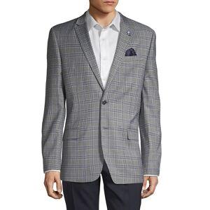 Ben Sherman Men's Plaid Notched Sportcoat - Grey - Size 36 R  Grey  male  size:36 R