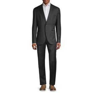 Boss Hugo Boss Men's Classic-Fit Johnstons & Lenon Virgin Wool Suit - Dark Grey - Size 46 R  Dark Grey  male  size:46 R