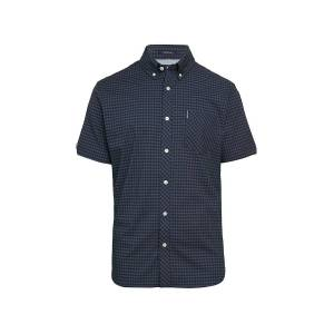 Ben Sherman Men's Gingham-Print Short-Sleeve Shirt - Red - Size M  Red  male  size:M
