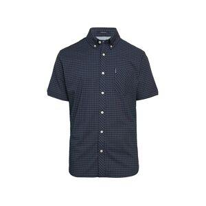 Ben Sherman Men's Gingham-Print Short-Sleeve Shirt - Dark Blue - Size M  Dark Blue  male  size:M