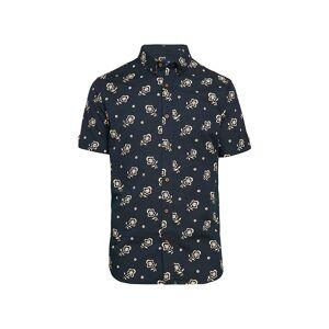 Ben Sherman Men's Floral-Print Short-Sleeve Shirt - Ecru - Size S  Ecru  male  size:S