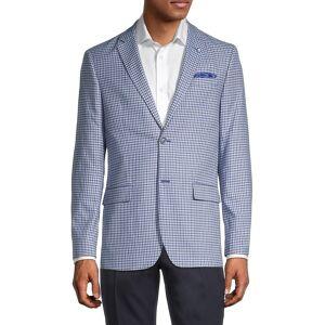 Ben Sherman Men's Standard-Fit Mini Checkered Sportcoat - Blue Grey - Size 40 R  Blue Grey  male  size:40 R