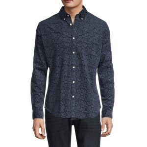 Ben Sherman Men's Paisley-Print Slim-Fit Shirt - Navy Blazer - Size M  Navy Blazer  male  size:M