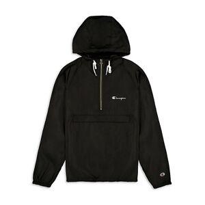 Champion Half-Zip Hooded Jacket  BLACK  Men  size:M