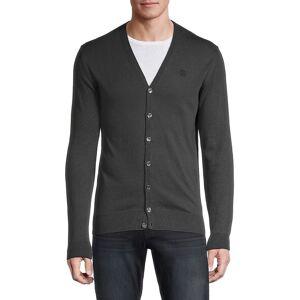 Roberto Cavalli Men's V-Neck Cardigan Sweater - Grey - Size L  Grey  male  size:L