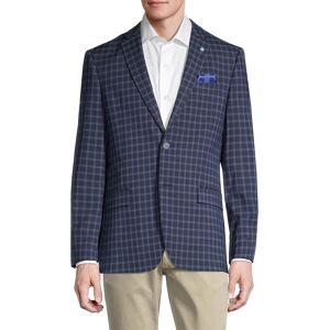 Ben Sherman Men's Stretch-Fit Check Sportcoat - Navy - Size 44 L  Navy  male  size:44 L