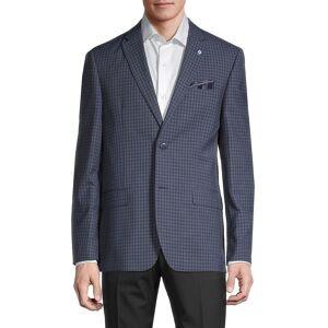 Ben Sherman Men's Checker Jacket - Navy - Size 44 L  Navy  male  size:44 L