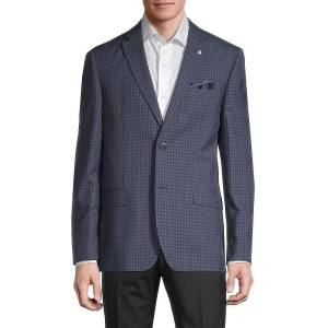 Ben Sherman Men's Checker Jacket - Navy - Size 42 L  Navy  male  size:42 L