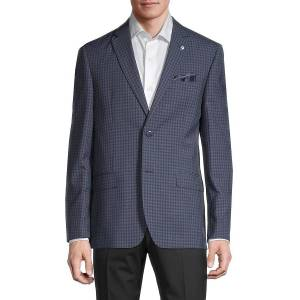 Ben Sherman Men's Checker Jacket - Navy - Size 44 R  Navy  male  size:44 R