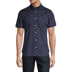 Ben Sherman Men's Bicycle-Print Sharp-Fit Shirt - White - Size XL  White  male  size:XL