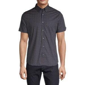 Ben Sherman Men's Regular-Fit Dot-Print Shirt - Dark Navy - Size M  Dark Navy  male  size:M