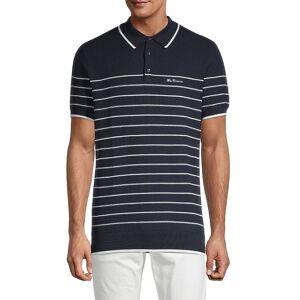 Ben Sherman Men's Striped Cotton Polo - Navy Blazer - Size M  Navy Blazer  male  size:M
