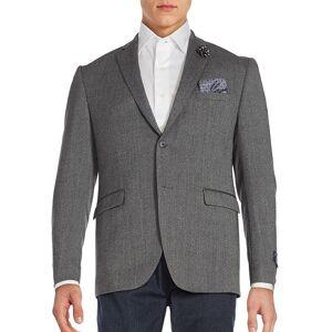 Original Penguin Men's Two-Button Jacket - Grey - Size 40 L  Grey  male  size:40 L