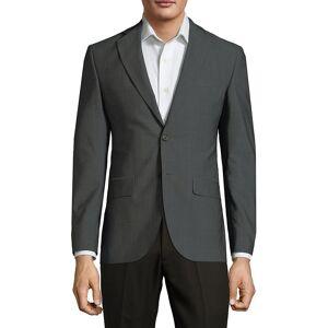 Saks Fifth Avenue Men's Classic Wool Jacket - Grey - Size 42 R  Grey  male  size:42 R