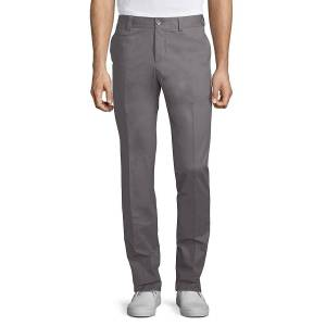 GTA 1955 Men's Solid Cotton Trousers - Grey - Size 54 (38)  Grey  male  size:54 (38)