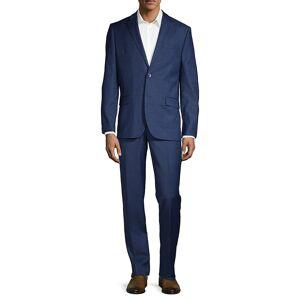 Ben Sherman Men's 2-Piece Slim Fit Windowpane Check Stretch Wool-Blend Suit - Navy - Size 40 S  Navy  male  size:40 S