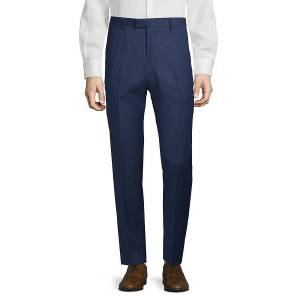 NHP Men's Extra Slim Fit Striped Trousers - Navy - Size 60 (44)  Navy  male  size:60 (44)