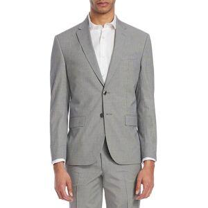 Jack Victor Men's Modern Micro Check Seersucker Jacket - Grey - Size 46 R  Grey  male  size:46 R