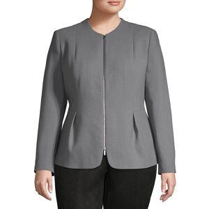Lafayette 148 New York Women's Plus Textured Wool Jacket - Rock - Size 14W  Rock  female  size:14W