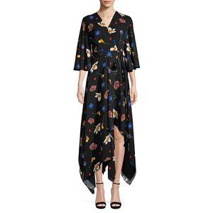 Solace London Women's Darlina Asymmetric Floral Dress - Space Floral - Size 2  Space Floral  female  size:2